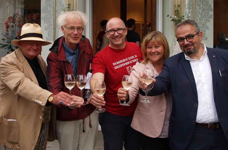 (v.l.) Ulrich Harz, Hoyer von Prittwitz, Moderator Andreas Archut, Sylvia Binner und Nikos Askitas. Foto: Tizian Rein